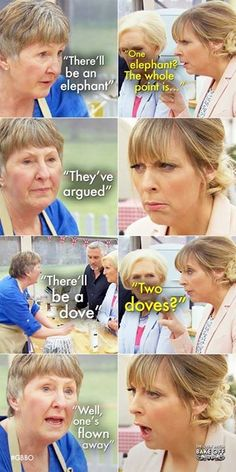 British Bake Off ( Gbbo Funny, My Favorite Food, Favorite Tv Shows, Mel And Sue, Cooking Humor, Paul Hollywood, I Carry Your Heart, Funny Relatable Memes, Relatable Posts