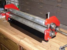 "Slip Roll by Rob G -- Homemade 18"" slip roll fabricated from steel. http://www.homemadetools.net/homemade-slip-roll-3"