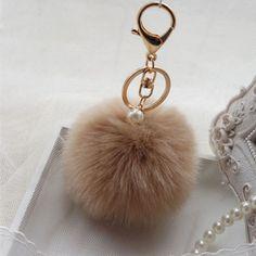 Cute-Faux-Rabbit-Fur-Ball-Car-Keychain-Pendant-Handbag-Charm-Keyring-Pom