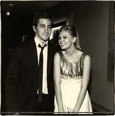 Jake Gyllenhaal with Kirsten Dunst, 2003, 60th Annual Golden Globes After Party