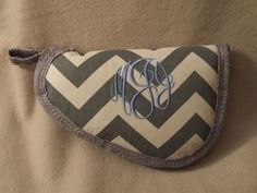 Gray chevron pistol case Monogrammed Gun by SouthernLadyGunCases