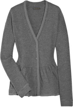 Burberry Prorsum Wool-blend Knitted Cardigan in Gray