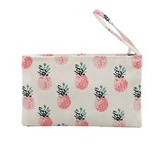 Caixia Women's Tropical Pineapple Patern Canvas Tote Shopping Bag Beige - No Closure Cute Makeup Bags, Hobo Style, Vera Bradley Tote, Nylon Bag, Satchel Purse, Leather Handle, Wallets For Women, Cross Body Handbags, Canvas Tote Bags