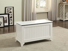White Finish Toy Blanket Storage Chest Trunk Box Bench ** Read more reviews of the product by visiting the link on the image.Note:It is affiliate link to Amazon.