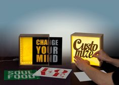 Retro lightbox Wide rectangle by TheLetterLounge on Etsy