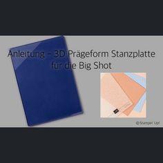 Die passende Stanzplatte für die neuen 3D Prägeformen von Stampin'Up! 2019/2020