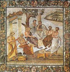 Plato's Academy. Mosaic floor from Pompeii, 1 st century CE