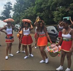 shared puctures of her clad in modern traditional Zulu attire Zulu Traditional Attire, Modern Traditional, African Fashion, Cheer Skirts, Lifestyle, Inspiration, Beauty, Biblical Inspiration, African Wear