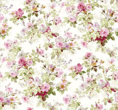 Painterly Floral One - ivory