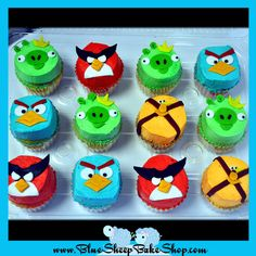 Angry Birds Space Buttercream Cupcakes