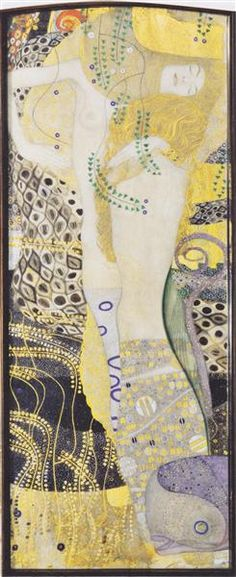 Water snakes I, 1904 - 1907 - Gustav Klimt Gustav Klimt, Klimt Art, Vienna Secession, Most Famous Paintings, Canvas Online, Academic Art, Pastel Paper, Art Database, Oil Painting Reproductions