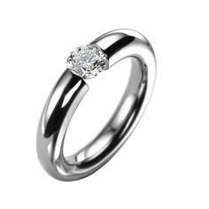 Niessing Ring | Platinum Oval Tension Set Diamond Ring