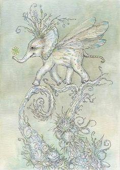Pixie Elephant by Paulina Cassidy