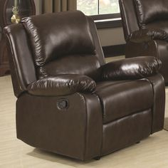 Chair reclining brown CO-600673
