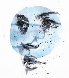 small piece 08 ink and watercolor on watercolor paper 13cm x 14,5cm part of…
