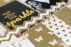 In August we are celebrating women a time to celebrate real friendships. I created a Lady Pattern Paper Egyptian Gold layout to match those golden… Gold Chevron, Time To Celebrate, Classic Collection, Project Yourself, Say Hello, Pattern Paper, Scrapbook Paper, Egyptian, Affair
