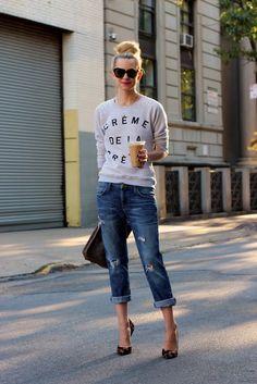 Creme de la creme of boyfriend Jean outfits