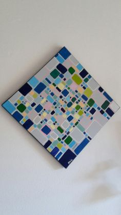 Acrylbild Retro abstrakte Kunst auf von abstractartmoewchen auf Etsy
