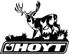 Hoyt Bows Logo with Deer