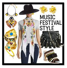 """""""Music Festival Style"""" by kareng-357 ❤ liked on Polyvore featuring Christian Lacroix, Rockins, Kijima Takayuki, Dolce&Gabbana, Miss KG, Amrapali, Elizabeth Locke and GUESS by Marciano"""