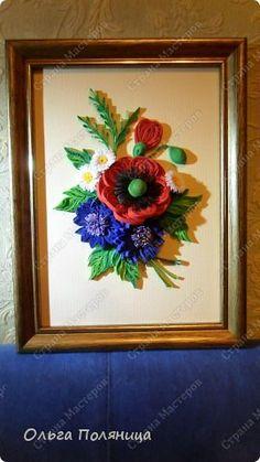 Картина панно рисунок Квиллинг Квиллинг Летние цветы Бумага фото 6