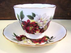 Vintage Royal Vale Bone China Floral Footed Teacup by ClairesFaire, $20.00
