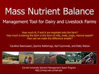 Whole Farm Mass Nutrient Balance Calculator