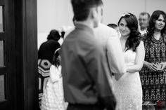 Great black and white picture of the bride