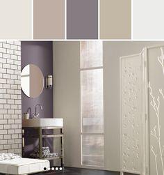 Exclusive Plum Bathroom Designed By Lisa Perrone | Stylyze Creative Director via Stylyze