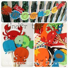 Under the Sea Party Banner - Baby Shower or Birthday Party - CUSTOMIZABLE. $28.00, via Etsy.