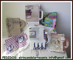El Rincón de la Artesanía: Fundas porta libros