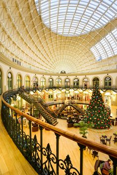Christmas at Leeds Corn Exchange.