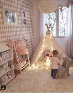 A girl's bedroom is a special area that she'll use for sleeping, socialising, playing, and proceed studious act out as she's growing up, therefore it's important to create a look that she'll love. Baby Bedroom, Baby Room Decor, Nursery Room, Girl Nursery, Girls Bedroom, Bedroom Ideas, Cute Teen Rooms, Little Girl Rooms, Romantic Bedroom Decor