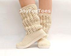 Ganchillo botas Boho estilo con cordones zapatos botas al aire