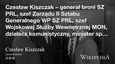 """""""Czesław Kiszczak"""" på @Wikipedia: Workers Union, Spin, Poland"""