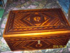 Antique, Wood Box 15x9x7 Cedar/Walnut HandMade  #AmericanDirectoire #Handmade