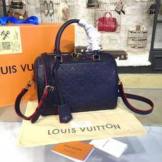 Louis Vuitton Speedy Bandoulière 25 Monogram Empreinte Leather MARINE ROUGE M43501 #speedy25