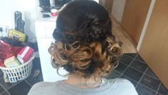 Curls pinned with a braid perfect hair for wedding guest