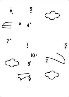 Dot to dot - Very easy coloring pages printable games Montessori Math, Preschool Worksheets, Preschool Learning, Kindergarten Math, Preschool Activities, Teaching Kids, Do A Dot, Kids Art Class, Connect The Dots