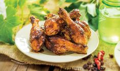 Grill up our Roasted Drumsticks with Chipotle Raisin Glaze! Raisin Recipes, Chipotle, Tandoori Chicken, Chicken Wings, Glaze, Grilling, Meat, Ethnic Recipes
