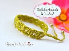 This artistic micro macramé bracelet can be made with any kind of clasp you can choose or braiding its ends allowing you to adjust it to your wrist measurement. The tutorial contains a VIDEO that must be used as a complementary help for the written tutorial. The link is included in