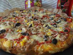 Hellena  ...din bucataria mea...: Pizza cu ton si porumb Paste, Hawaiian Pizza, Vegetable Pizza, Vegetables, Food, Mariana, Fine Dining, Veggies, Vegetable Recipes