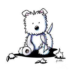 westie drawings free westie terrier drawings showing by kim niles rh pinterest com