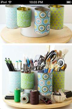 Cute idea! Craft room organization