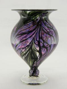 Hand Blown Art Glass Vase  Purple and Lavender by ParadiseArtGlass