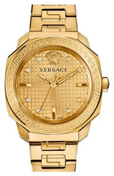 Discover the new Versace Women's Watches line. Enjoy your time with a luxury watch, available on the Versace Online Store. Patek Philippe, Versace Gold, Army Watches, Watches For Men, Gold Watches, Quartz Watches, Vintage Watches, Key Jewelry, Jewelry Watches