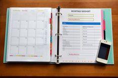 Finance Binder Printables  #financebinder #printable #2015
