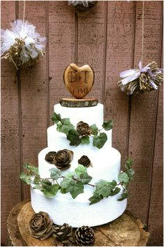 Cute and Chic Rustic Wedding Cake Toppers - MODwedding