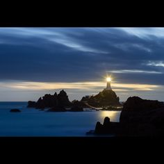 A view of La Corbiere Lighthouse in Jersey