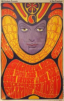Psychedelic poster, 1960s.